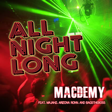 'All Night Long' Album Cover - Mac Demy